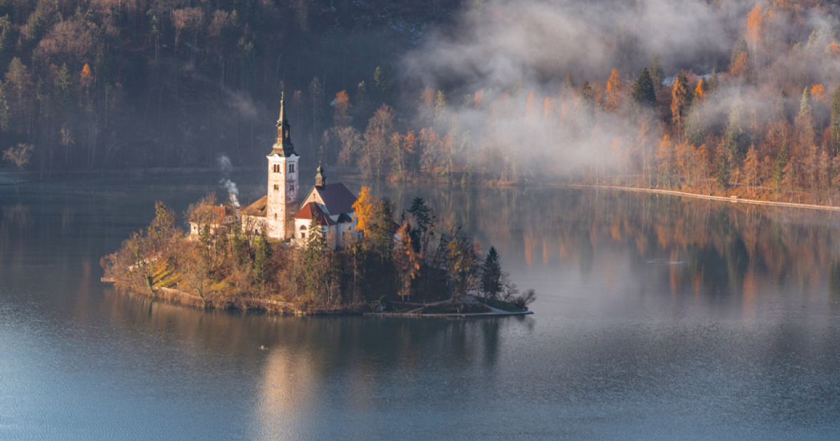 Another Magical Sunrise At Lake Bled In Slovenia