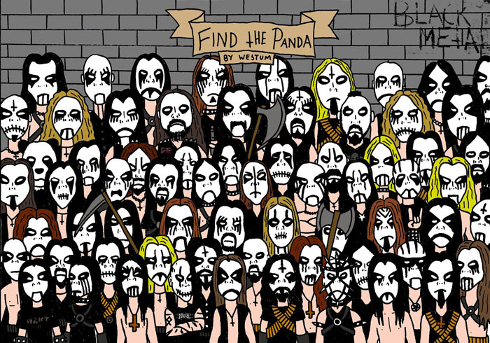 Finding The Panda In A Black Metal Crowd Is Almost Impossible