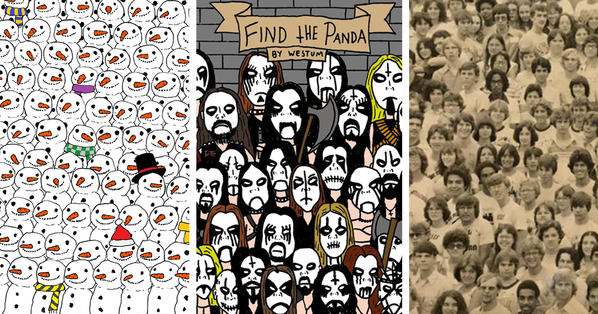 let s post all find the panda puzzles here bored panda