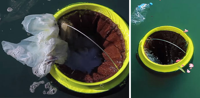Floating Rubbish Bin That Cleans Oceans