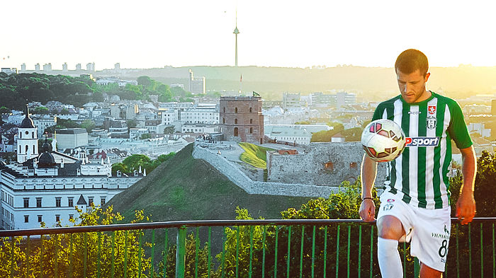 Football Players Use Their Skills To Show Off The Beauty Of Lithuania's Capital