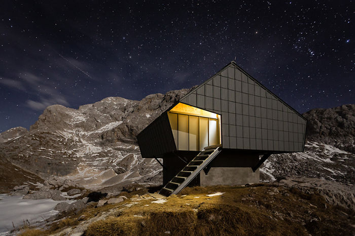 Former WW1 Bunker Transformed Into A Cozy Cabin For Mountaineers