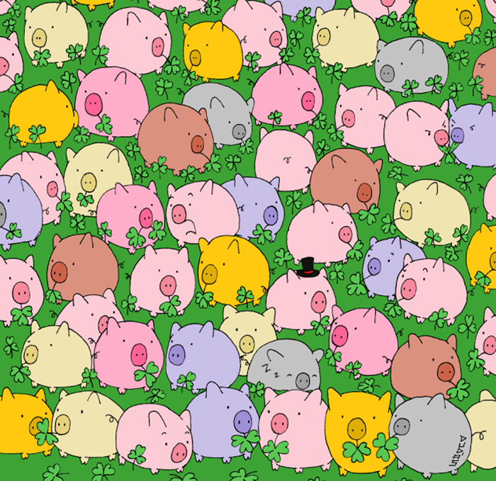 Tired Of Pandas? Try To Find A Four-Leaf Clover!