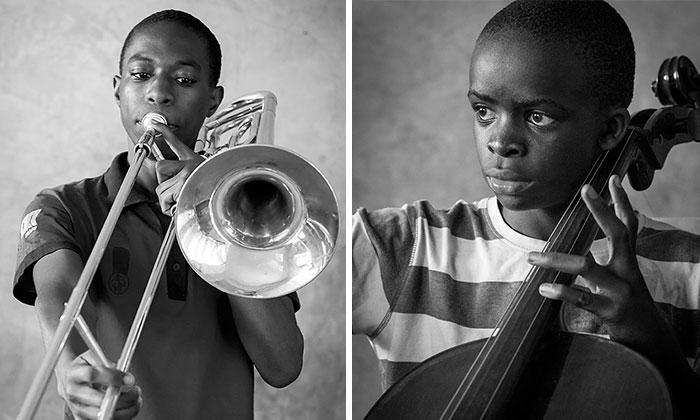 I Visited The Korogocho Slum And Captured Kids Playing Classical Music