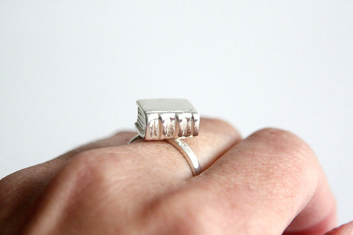 Silver Book Ring