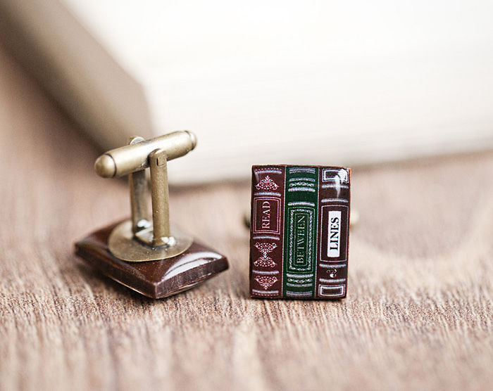 Book Cufflinks For Men