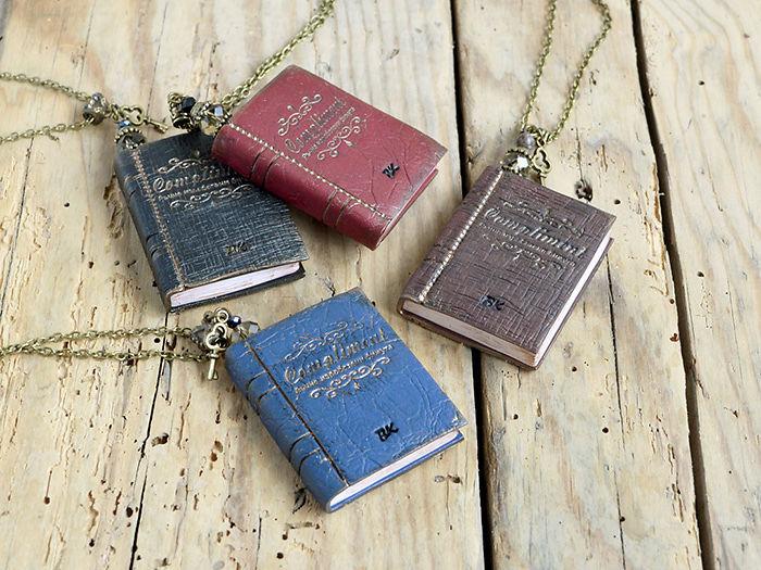 Mini Book Necklaces