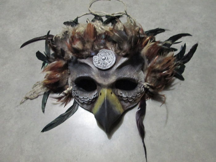 Hand Sculpted Gryphon Costume Mask