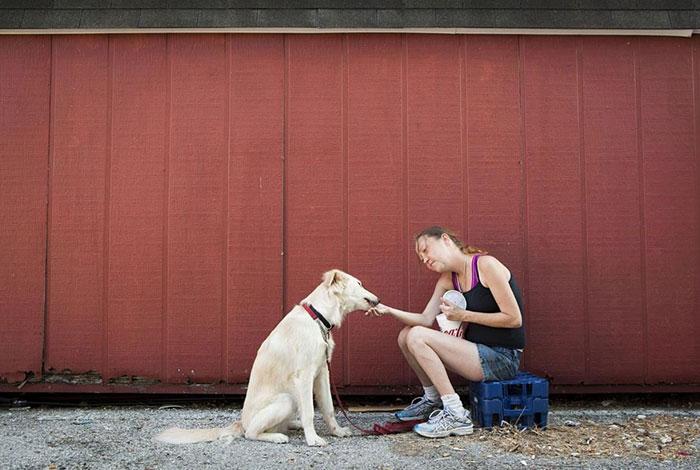 Homeless Girl Rose With Her Dog Junior