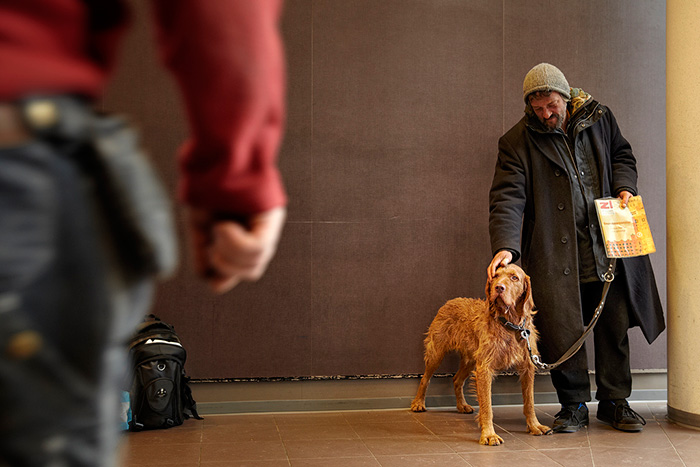 This Homeless Man Takes Good Care Of Supermarket's Customers' Dogs