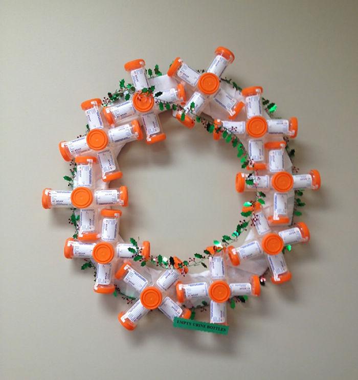 Wreath Made Of Pee Jars