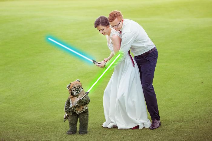 I Changed My Wedding Photos To Add A Bit Of Star Wars To Them