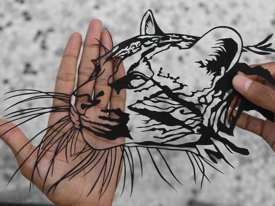 Parth Kothekar impresionantes obras de papel cortado paper cut