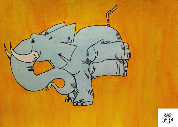 I Draw An Elephant Who Loves Yoga