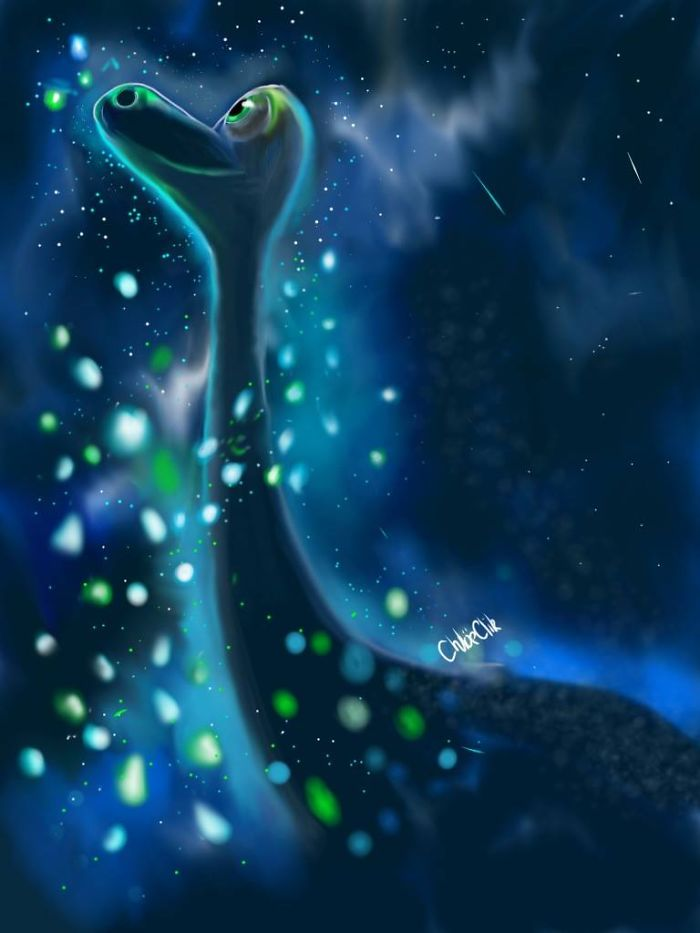 I Drew A Magic Starscape Of The Good Dinosaur