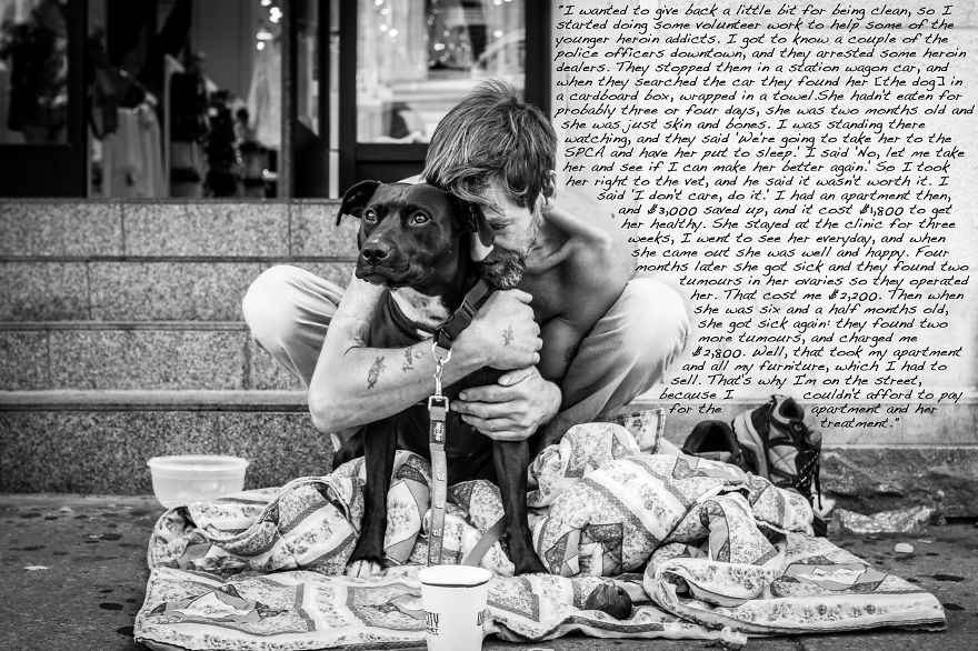 i listen to the stories of the homeless and share them with the