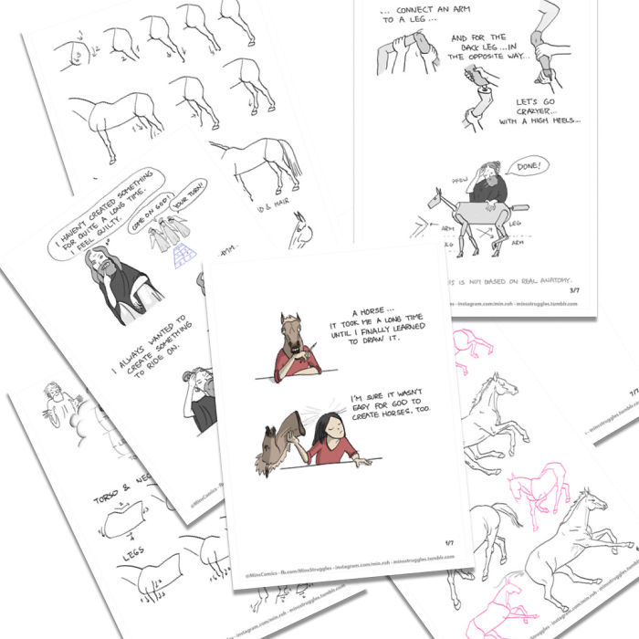 I Made A Comic About An Easy Way To Draw Horses