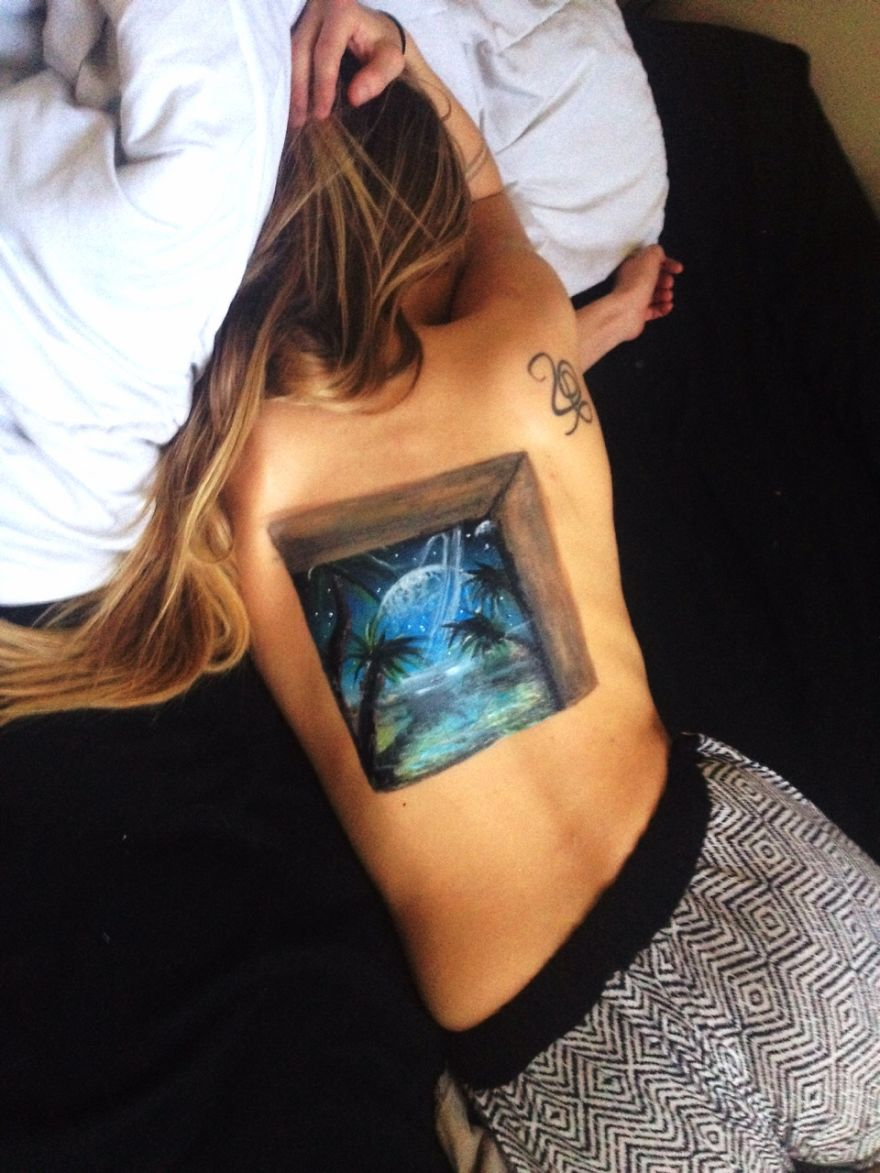 I Paint On Canvases, Paper, And My Girlfriends Body