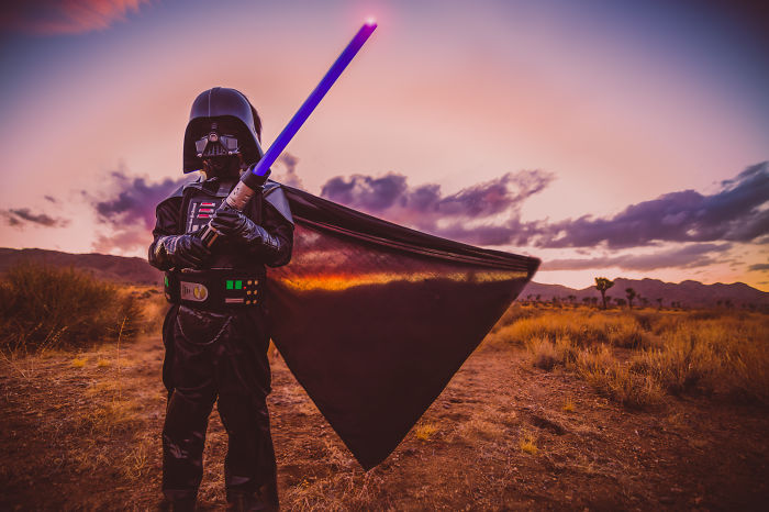 I Recreated Star Wars' Tatooine In The Desert With My Children