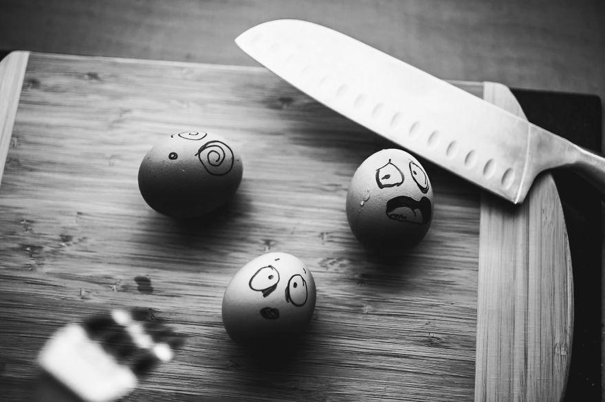 I Transform Simple Eggs Into Funny Photos