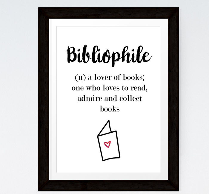 Bibliophile Definition Print For Book Lovers