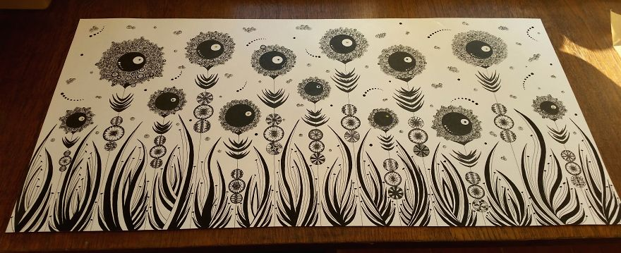 i m a pharmacist and my drug is black white gel pen drawings