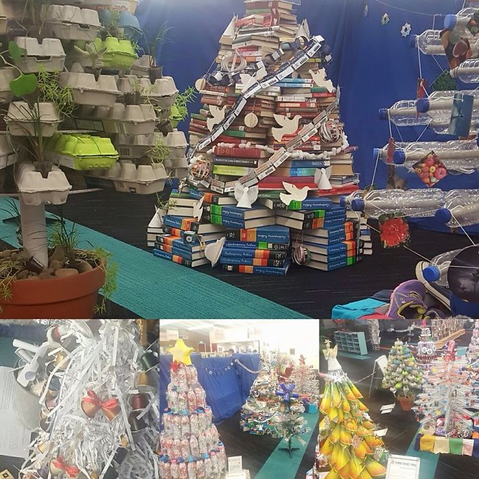 Hornsby Library Xmas Competition Using Sustainable And Economical Materials