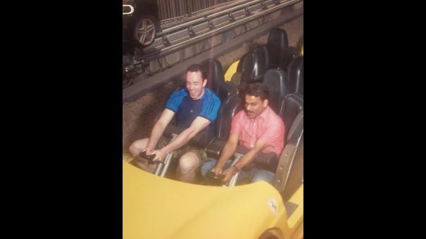 Man Takes His Taxi Driver To The Theme Park With Him Since He(the Driver)had Never Been To One