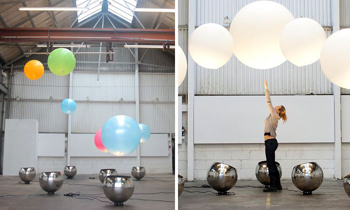 We Created An Interactive Installation That Lets You Play With Giant Levitating Balloons