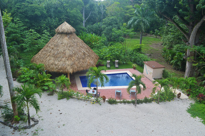 Just A Pool, A Tiki Hut And The Beautiful Beaches Of Mal Pais, Costa Rica.
