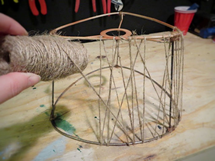 Let's Make A Jute Lampshade!