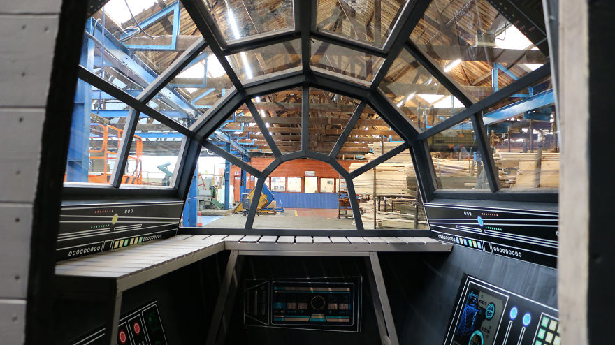 We Built A Functional Millennium Falcon Potting Shed With Control Panels Inside