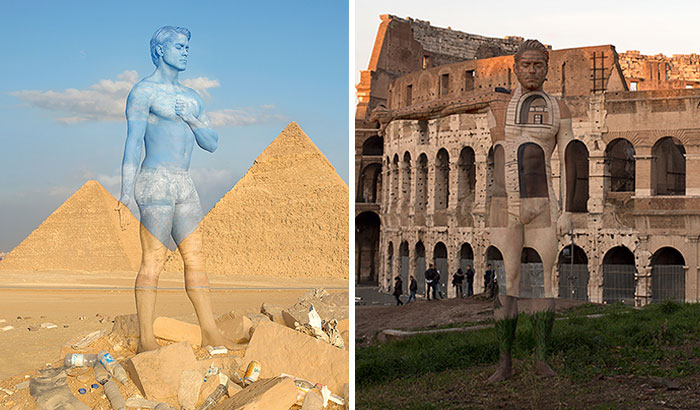 I Camouflaged A Model Into The Seven Wonders Of The World