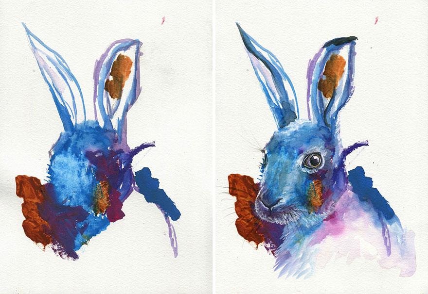 Mama dokončuje kresby 3-ročnej dcéry, mení ich na krásne diela, ktoré vás nadchnú