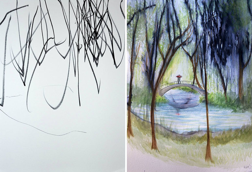 mom-turns-kid-doodles-into-paintings-2