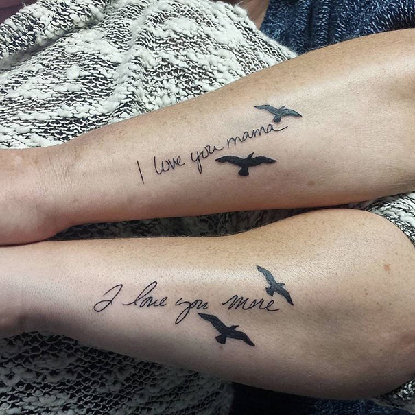 Mother-Daughter Tattoos | Bored Panda