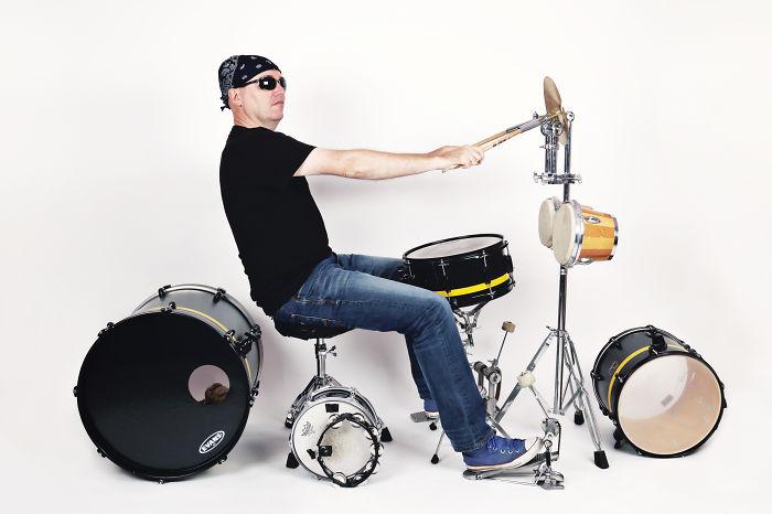 Motor Music On My Drumkit.