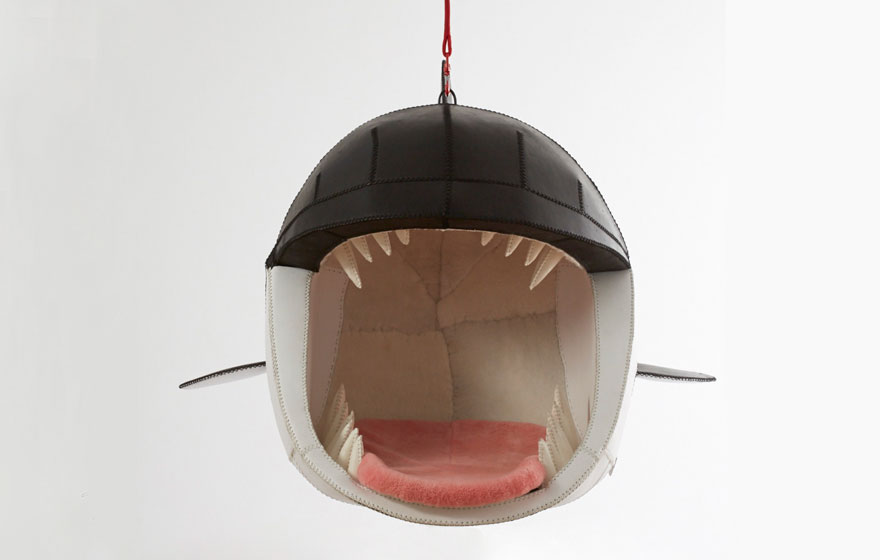 Hanging Animal Chairs Let You Sit In The Mouths Of Deadly Predators Bored Panda