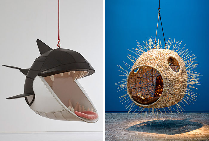 Hanging Animal Chairs Let You Sit  In The Mouths Of Deadly Predators