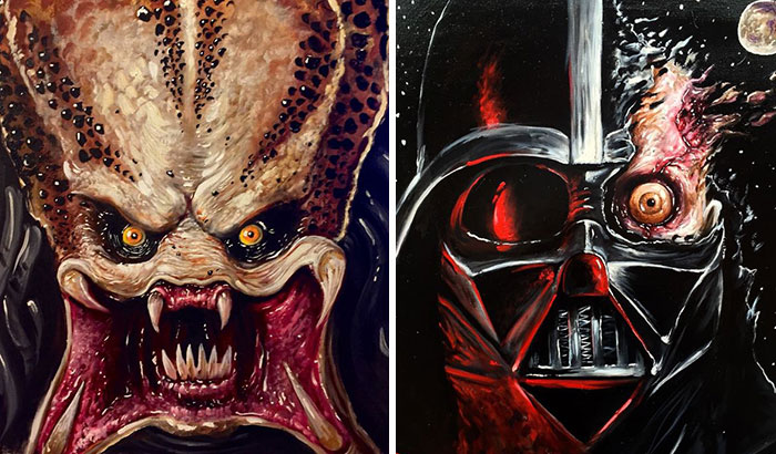 I Paint Movie Characters From My Point Of View