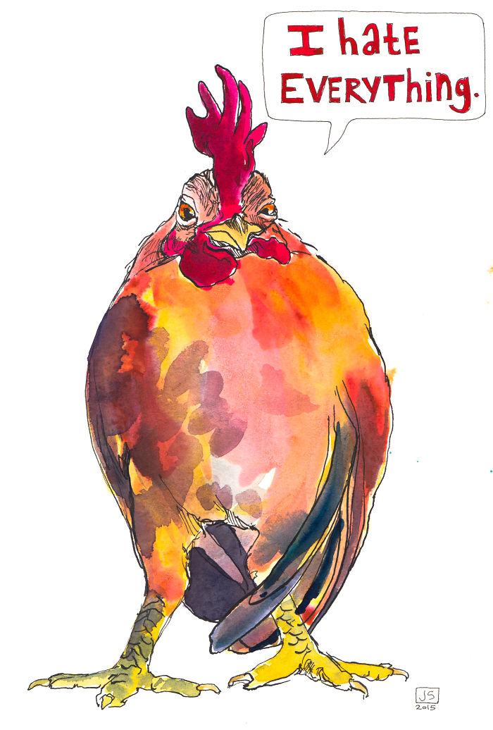 Passive Aggressive Chickens: I Paint To Express What I'm Too Polite To Say
