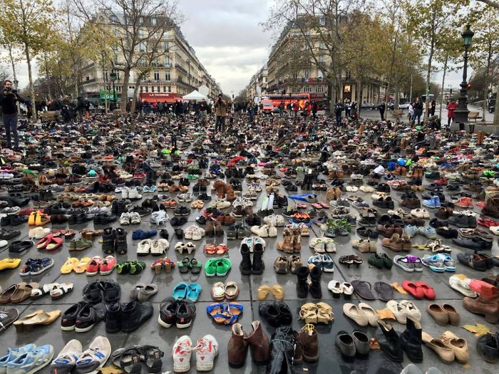 People Send Their Shoes For Global Climate March In Paris