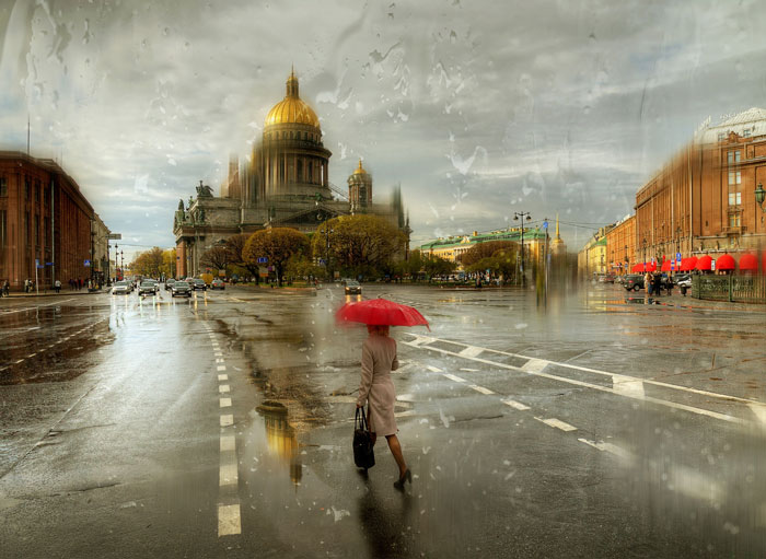Rainy Russian Street Photography Looks Like Oil Paintings