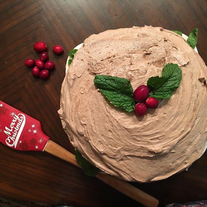 Red Velvet Mint Chocolate Ice Cream Cake
