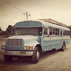 Dad And Son Convert Old 90's School Bus Into A Tiny Dream Home