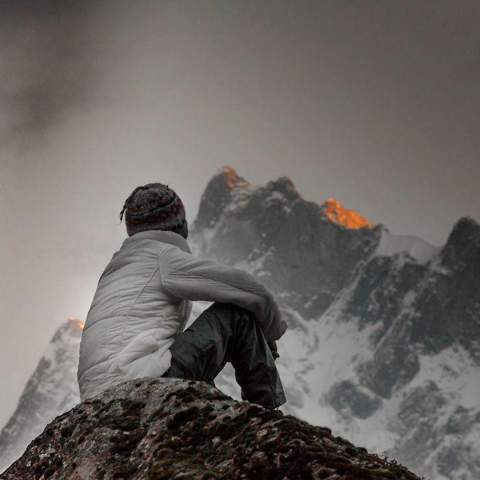 Self Portrait Around The Himalayas.