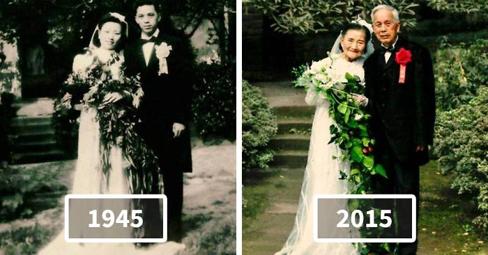 98-Year-Old Couple Recreate Their Wedding Day After 70 Years Bored ...