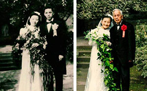 98-Year-Old Couple Recreate Their Wedding Day After 70 Years