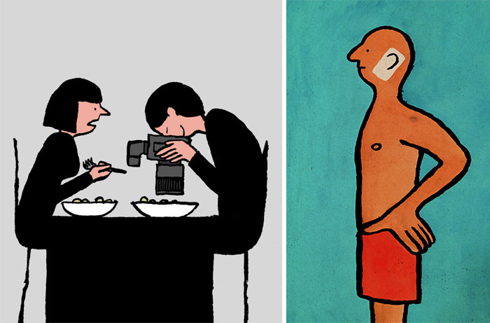 How Addiction To Technology Is Taking Over Our Lives In Illustrations By Jean Jullien
