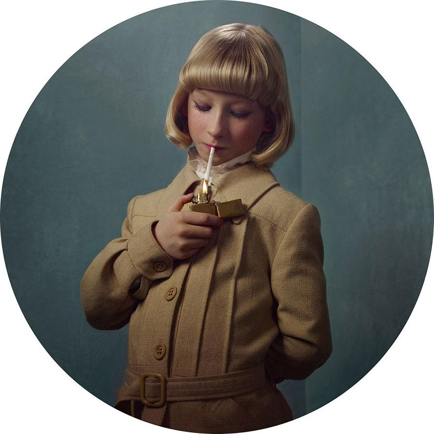 Kids smoking cigarettes